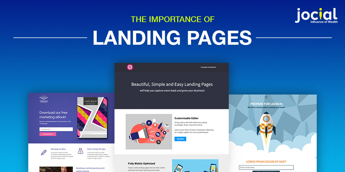 The importance of Landing Pages